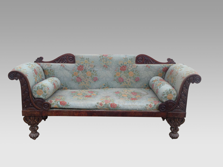 Regency mahogany settee.