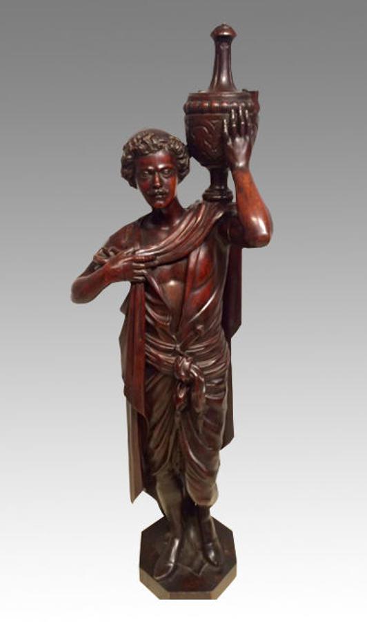 Italian carved walnut figure.