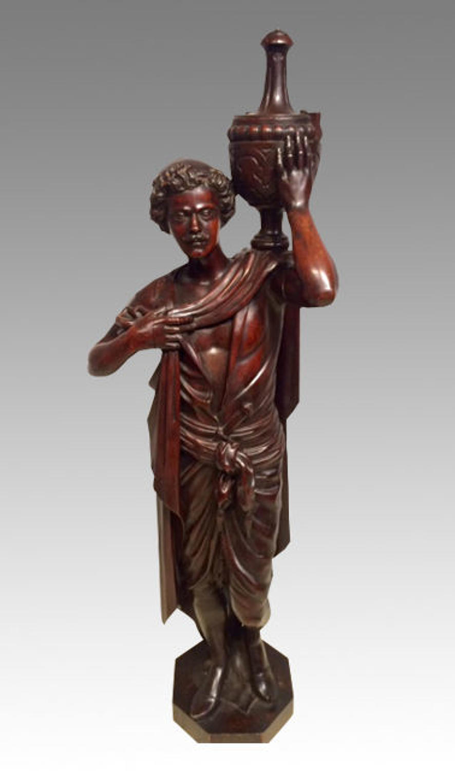 Italian carved walnut figure.