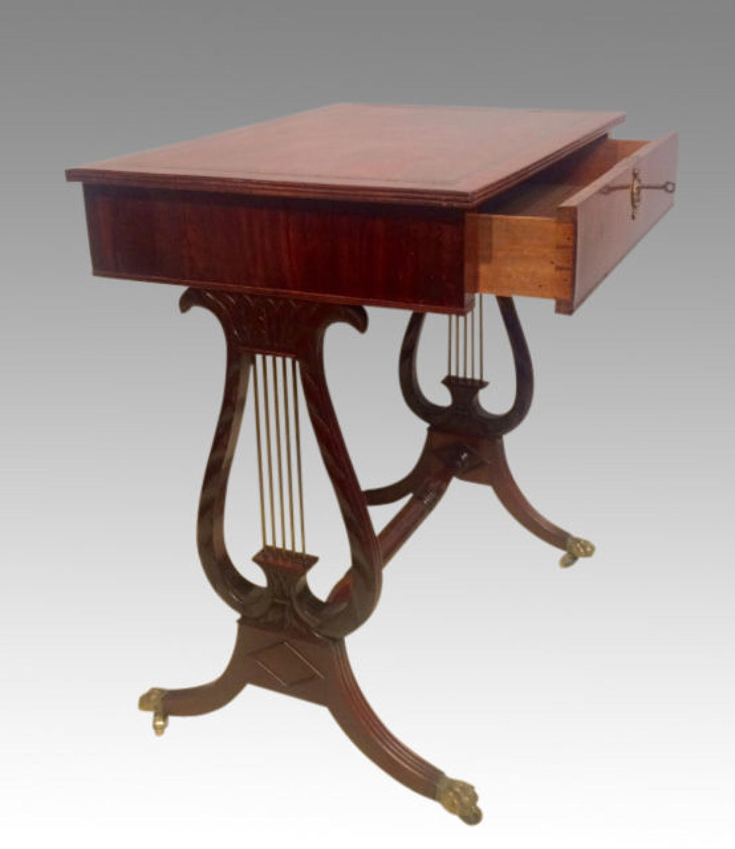Regency mahogany writing table.