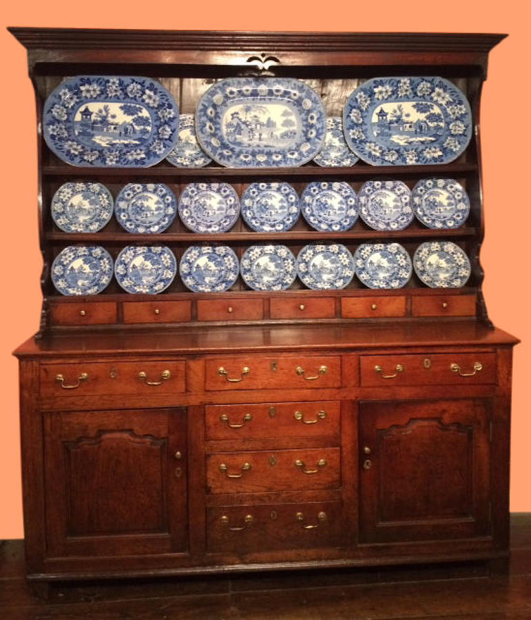 Antique Welsh oak dresser