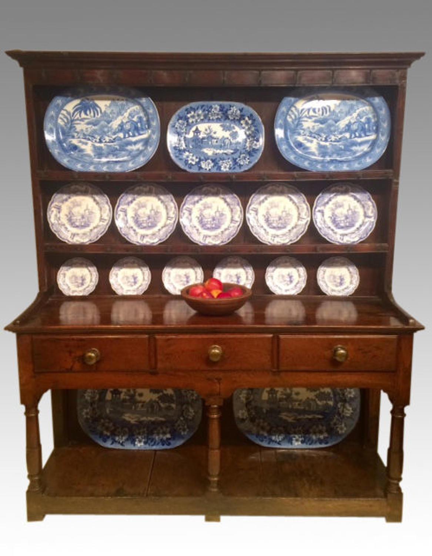 Antique oak Welsh dresser.