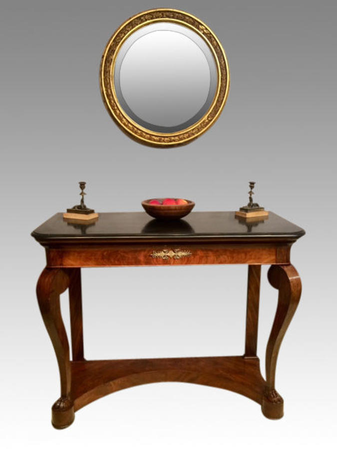 19th century mahogany console table.
