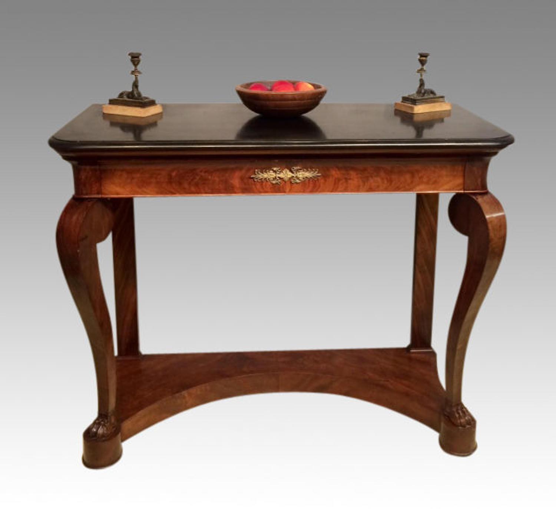 19th century mahogany console table.