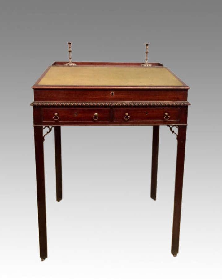 18th century antique Chippendale mahogany architect's desk.