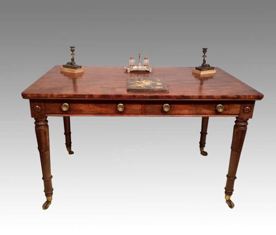 William IV antique mahogany writing table.