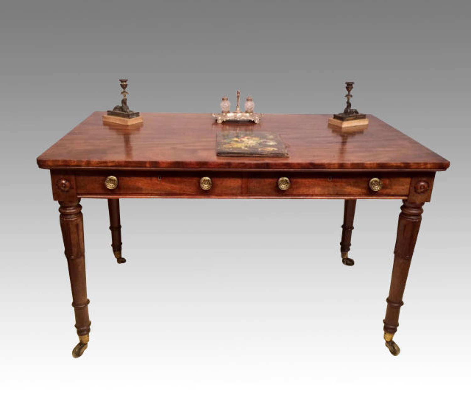 William IV antique mahogany writing table.