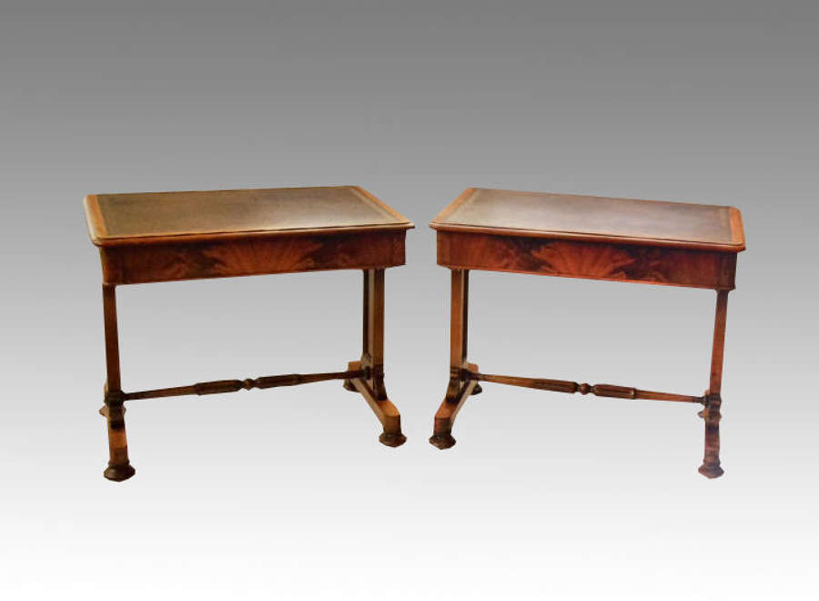 A pair of antique William IV mahogany writing tables.