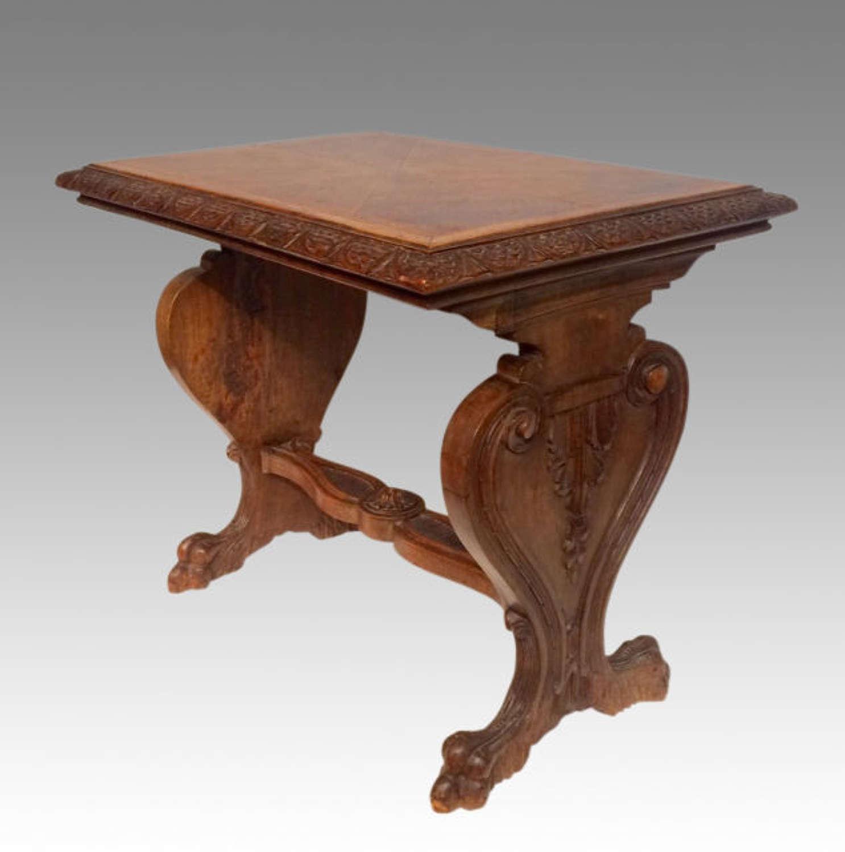 19th century antique Spanish walnut coffee table