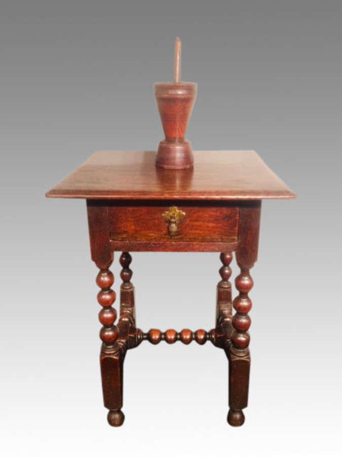 Small Charles II oak table