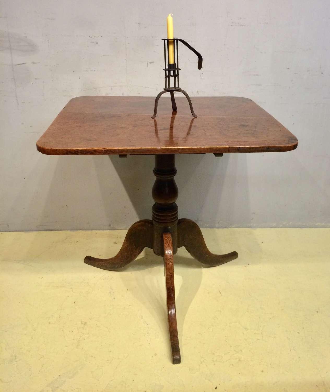 18th century Welsh oak tripod table.