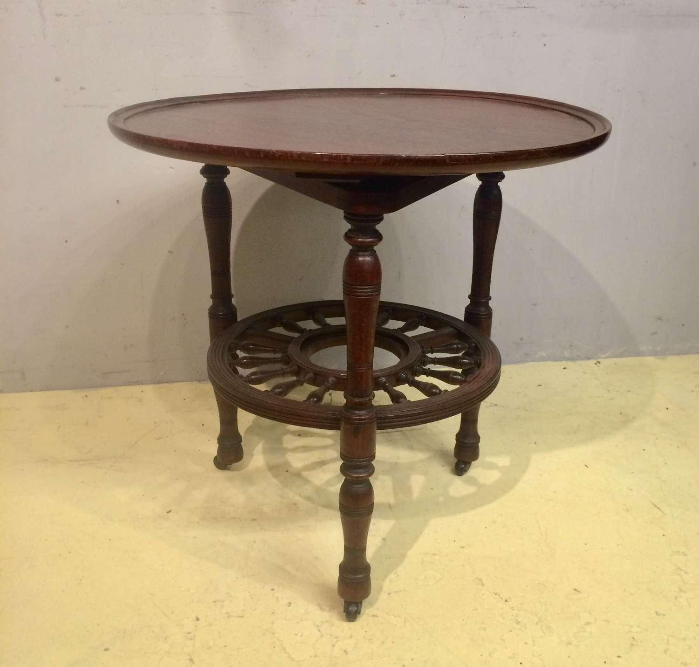 19th century mahogany lazy susan table.