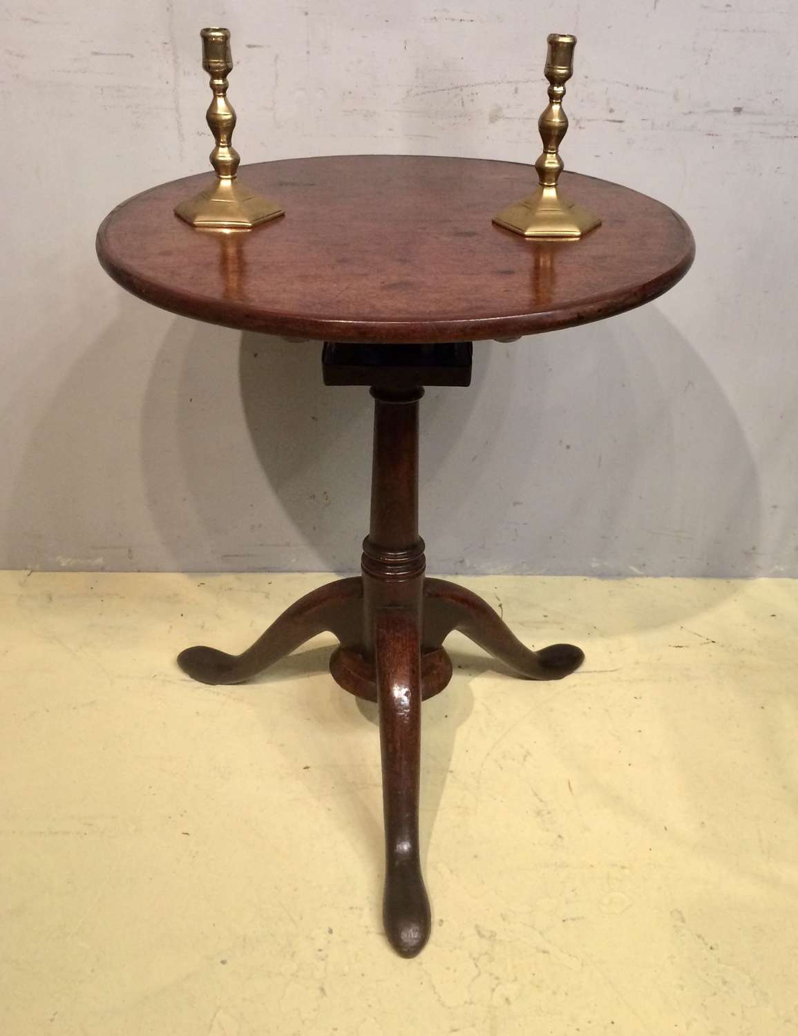 Georgian red walnut tripod table.
