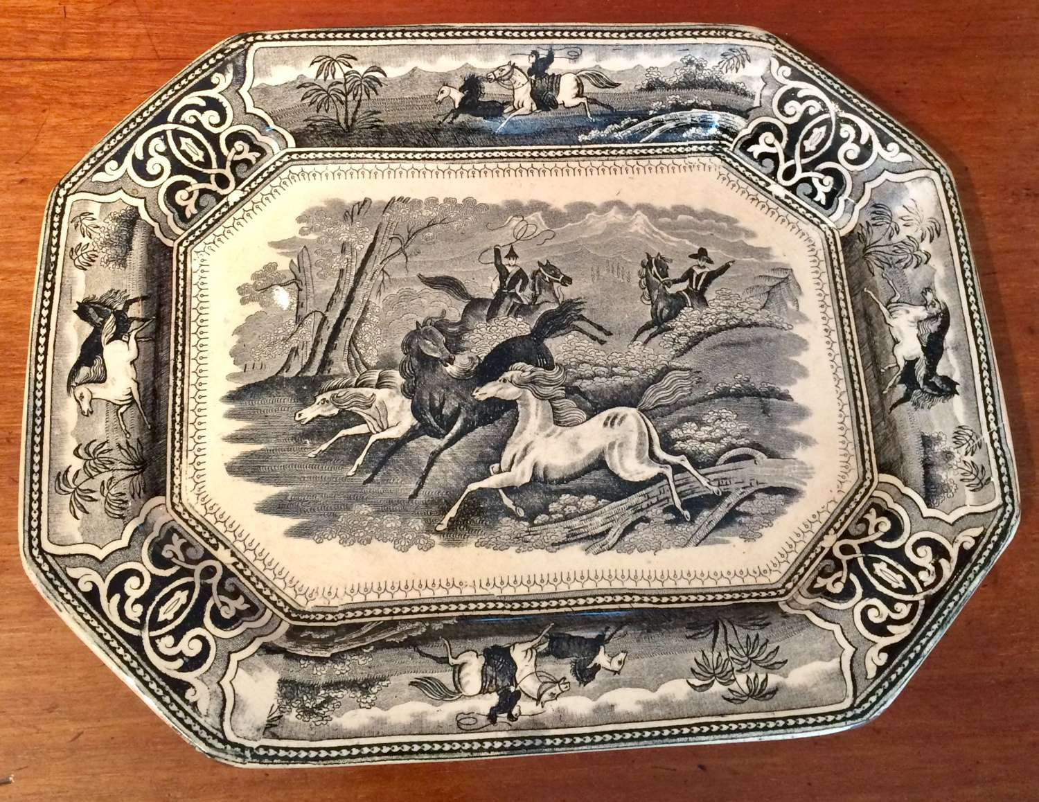 19th century Lindner & Co transferware dish.