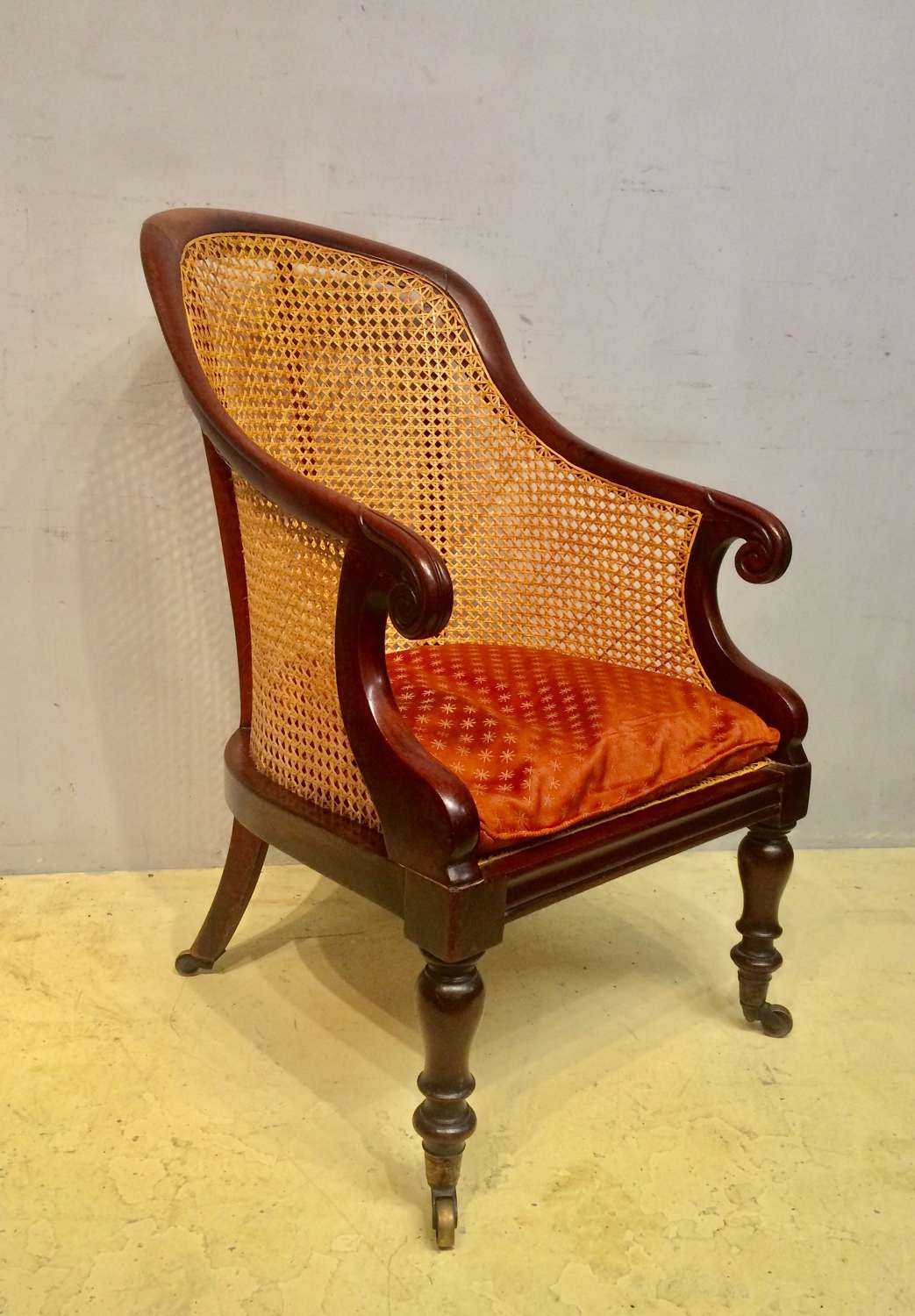 Late Regency mahogany tub chair.