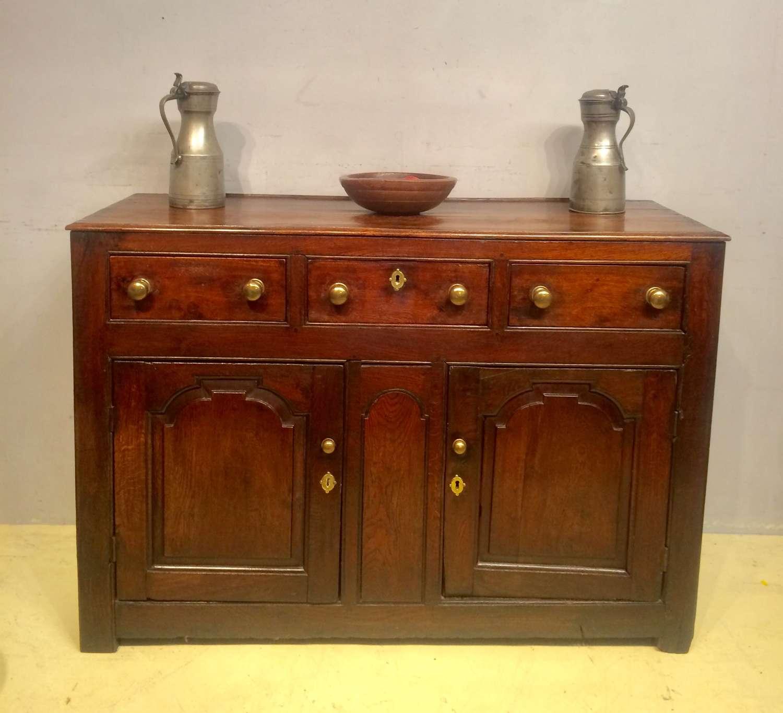 Small 18th century  Welsh oak enclosed dresser base.