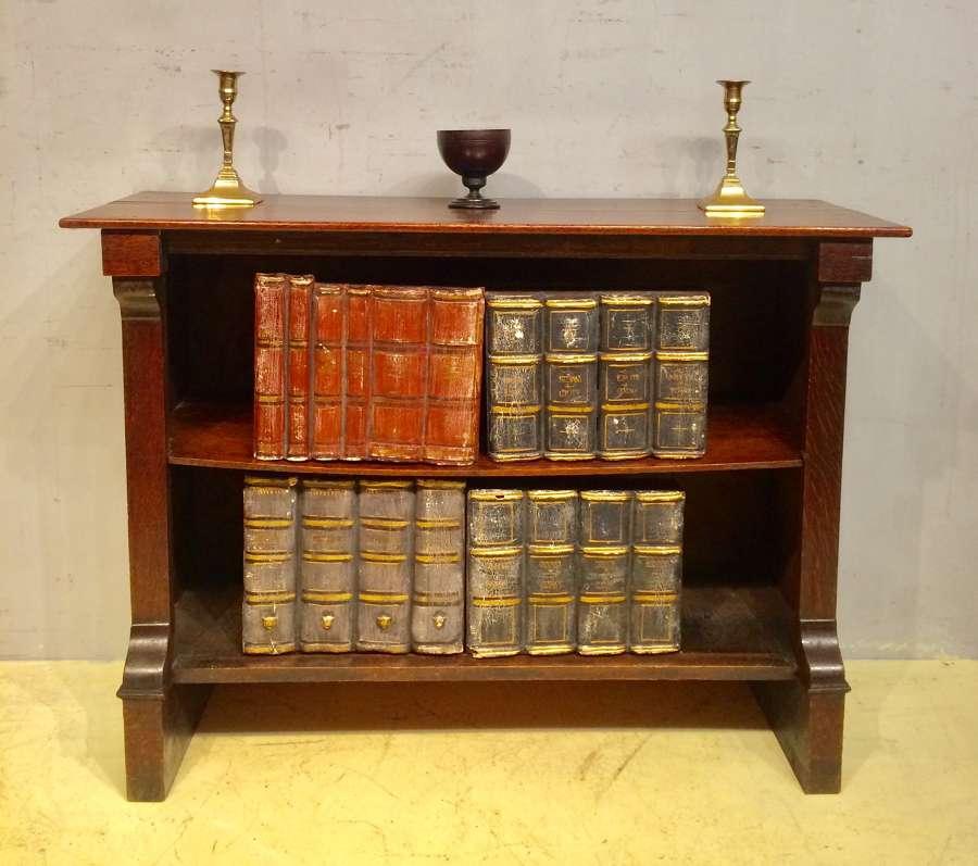 Small 19th century oak open bookcase.