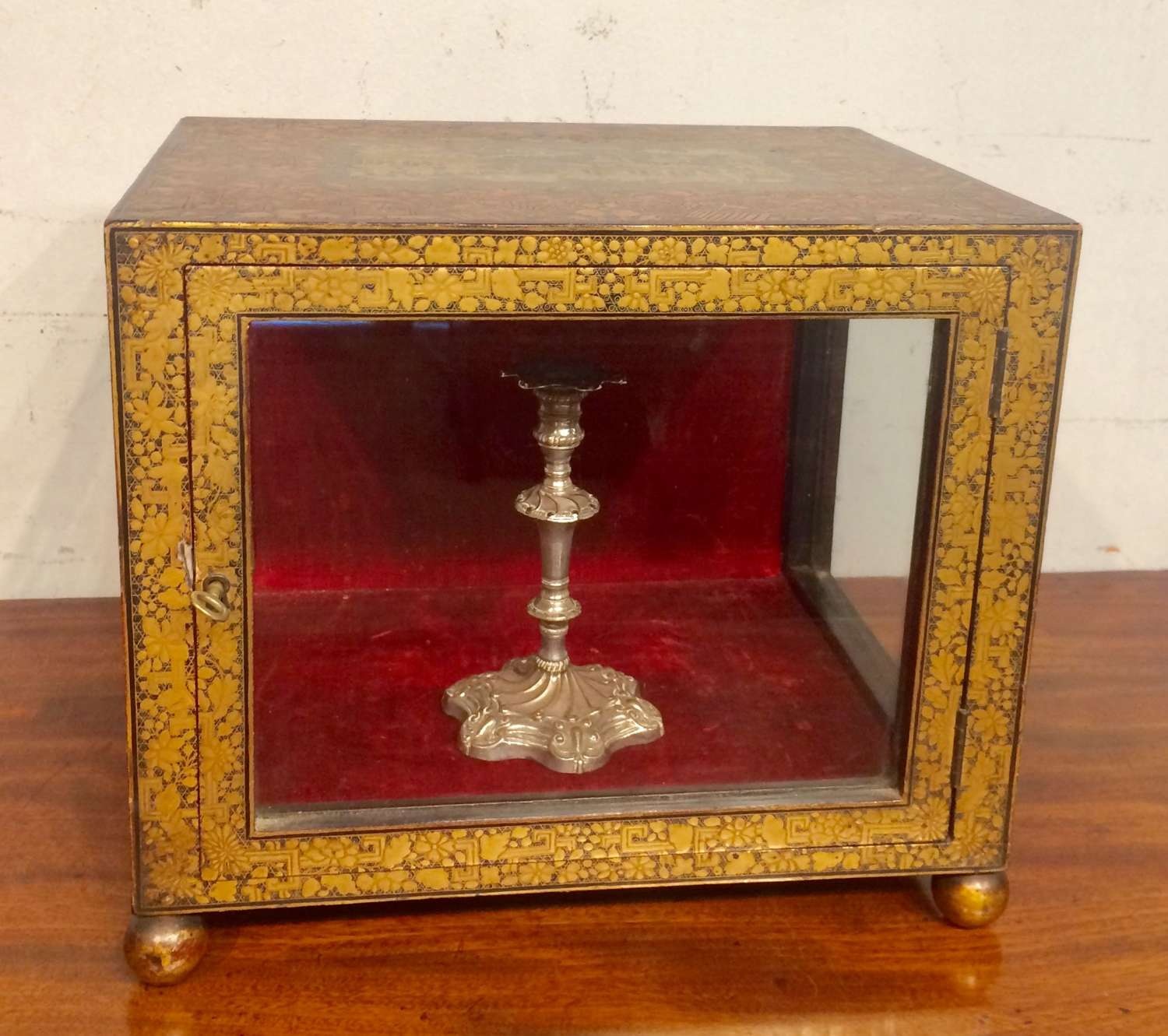 19th century Chinese Export lacquer table cabinet.