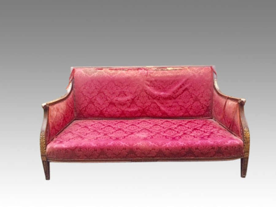 A decorative 19th century carved mahogany settee.