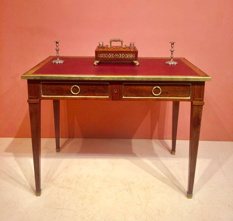 19th century French mahogany writing table.