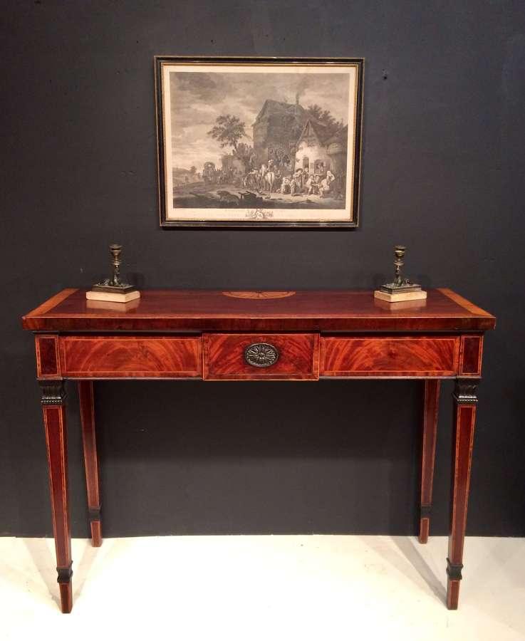 Georgian mahogany serving table.