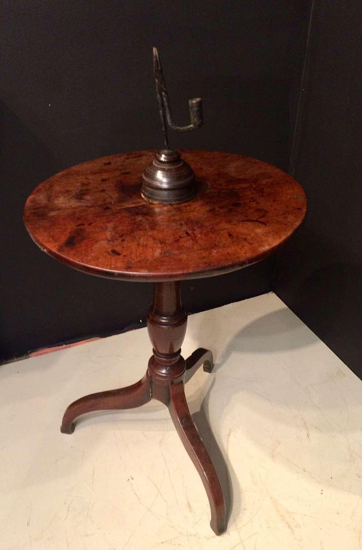 Small Georgian oak tripod table.