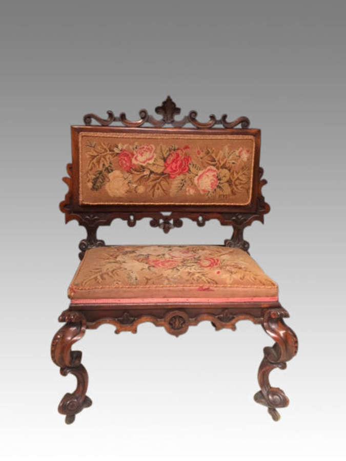 19th century mahogany seat.