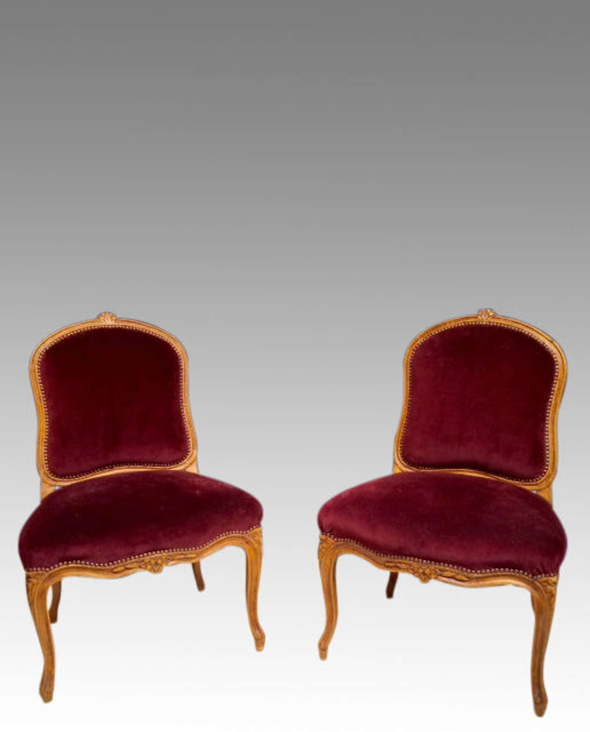 Pair of 19th century French side chairs.