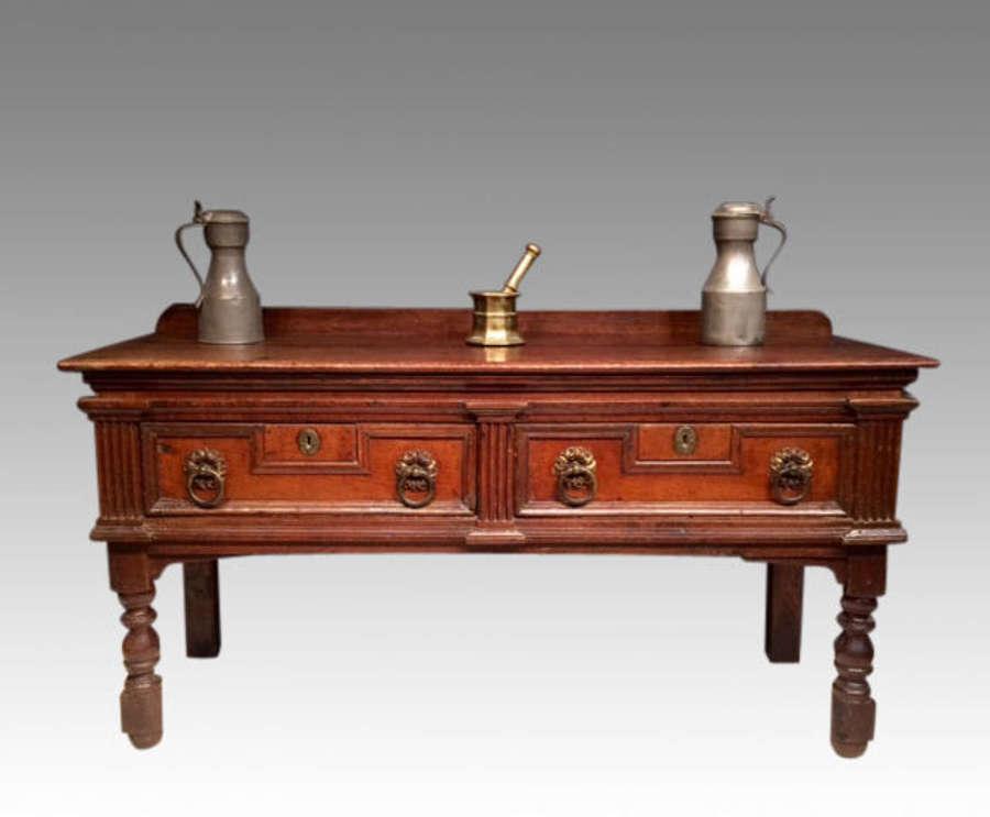 Small Charles II oak dresser.