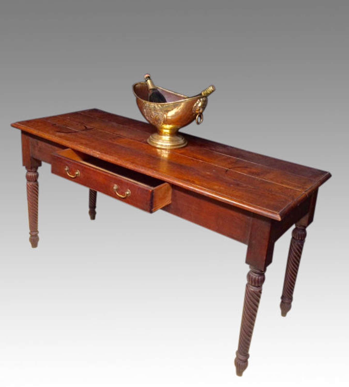 William IV oak side table.