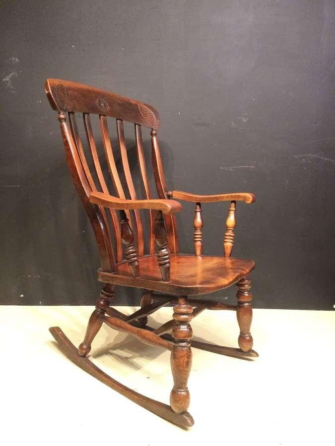 Welsh elm and ash country rocking chair.