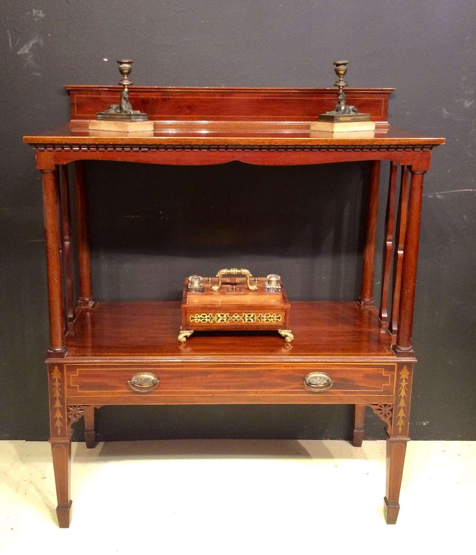 19th century two tier mahogany buffet.