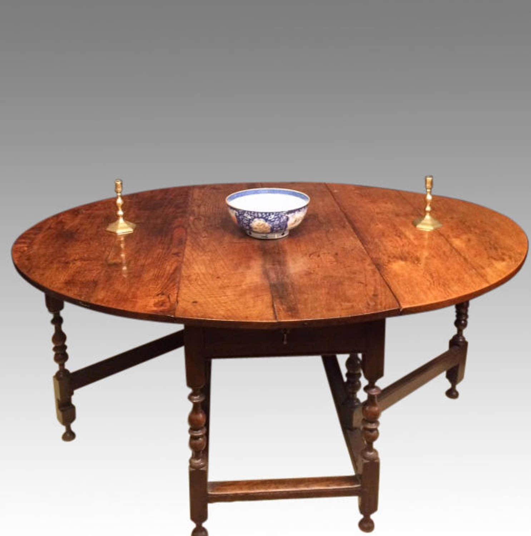 18th century oak gateleg table.