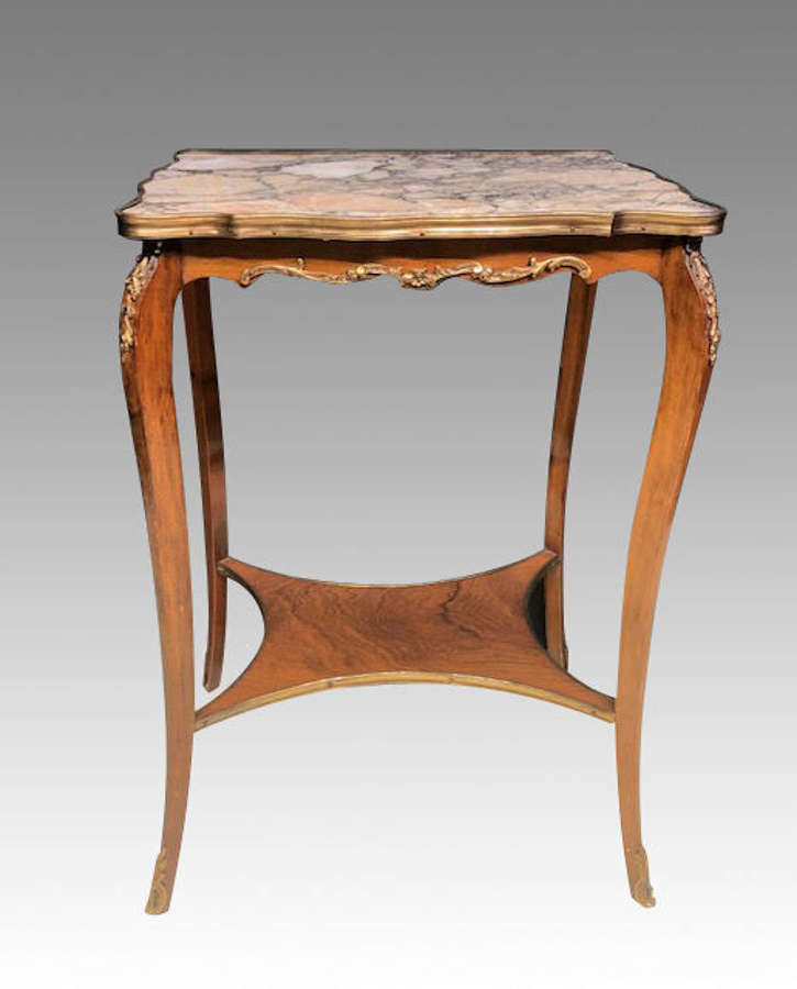 19th century marble top lamp table.
