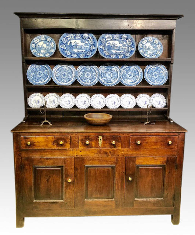 Geo III Welsh oak enclosed dresser.