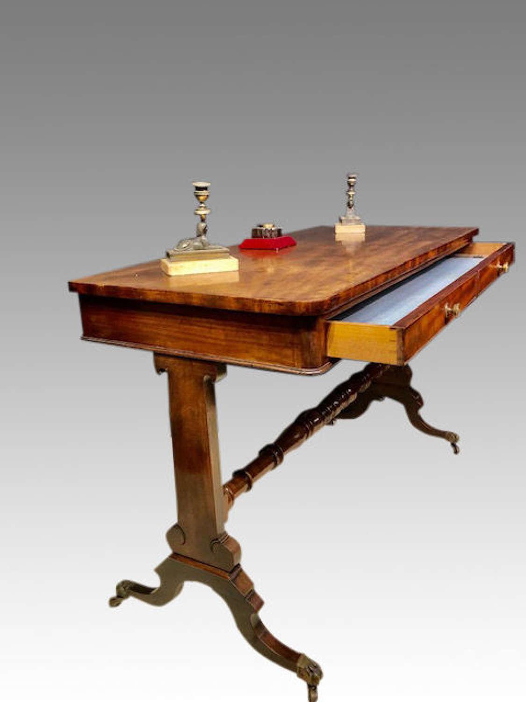 Georgian mahogany writing table.