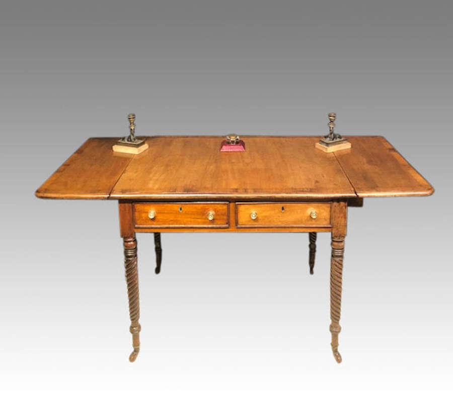 Antique Irish mahogany sofa table.